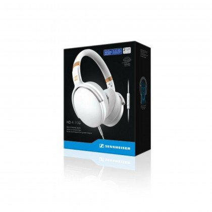 Sennheiser HD 4.30i Over-Ear Headphones with Integrated Mic & Remote for iOS Devices (White)