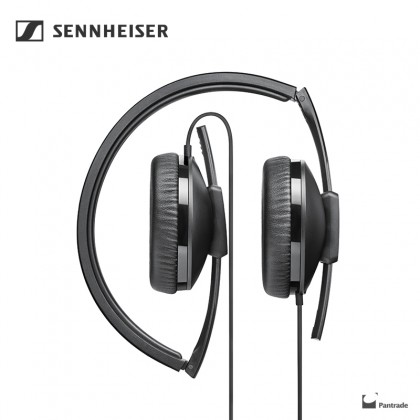 Sennheiser HD100 on-ear Headphones Black (lightweight and compact)