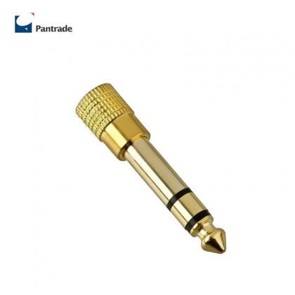 "6.3mm 1/4"" Male Plug to 3.5mm 1/8"" Female Jack Stereo Headphone Audio Adapter Microphone Home Connectors Plug type"